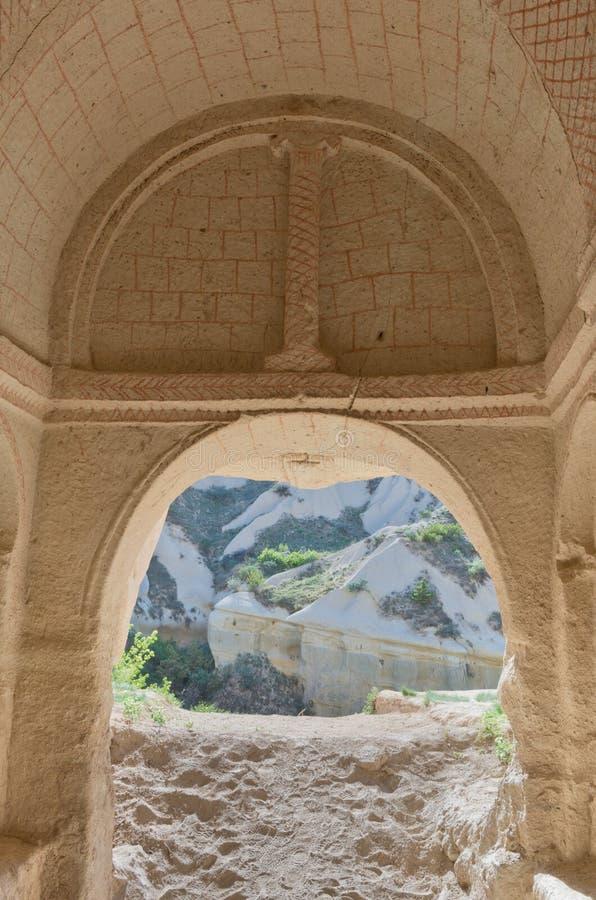 Церковь пещеры Meskendir в Cappadocia, Турция, стоковые изображения rf