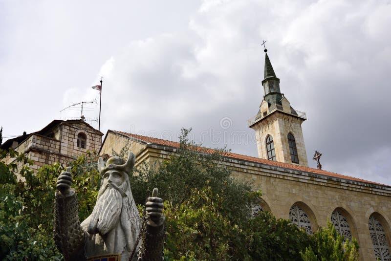 Церковь посещения, Иерусалим стоковое фото rf