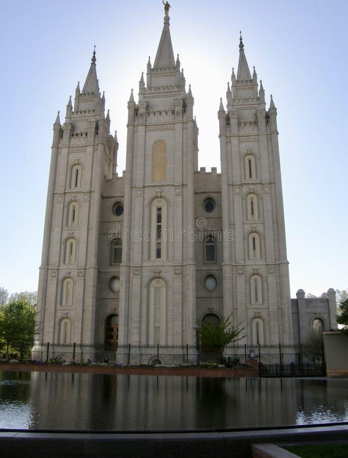 Церковь последних Святых дня в квадрате Солт-Лейк-Сити виска стоковое изображение