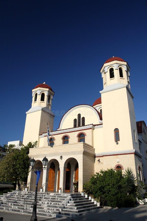 церковь правоверный rethymnon стоковая фотография rf