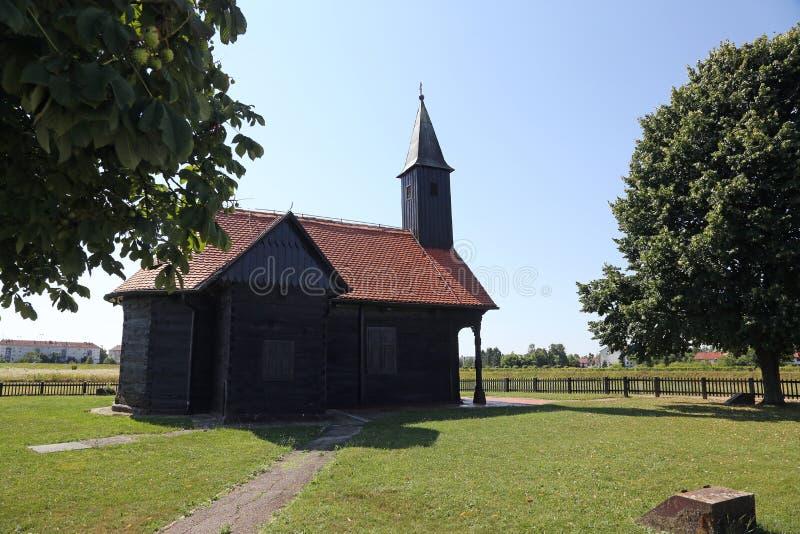 Церковь раненого Иисуса в Pleso, Velika Gorica, Хорватии стоковая фотография rf