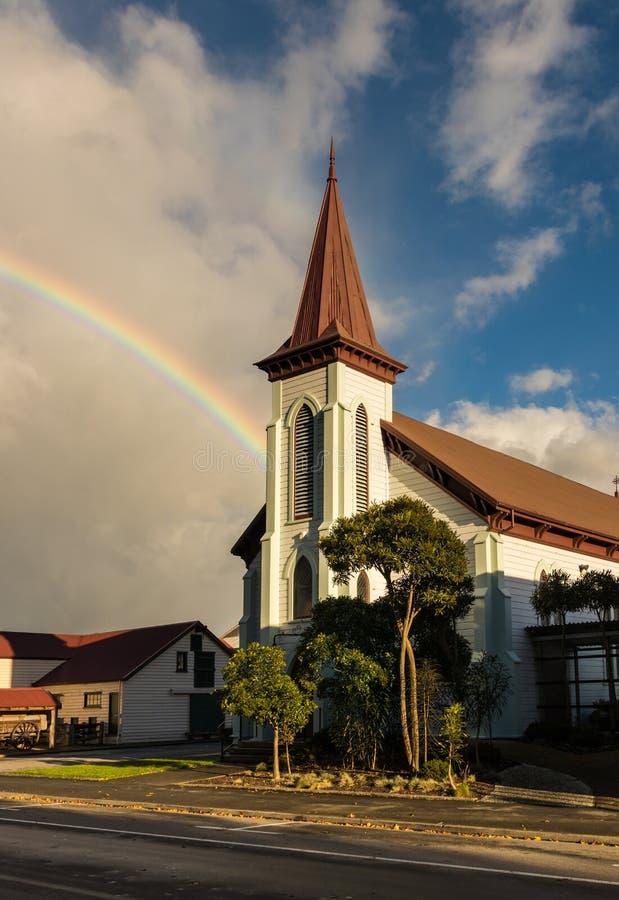 Церковь радуги стоковое изображение
