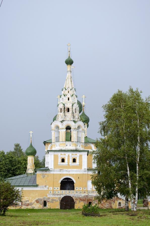 Церковь рождества Иоанна Крестителя в Uglich России стоковое фото rf