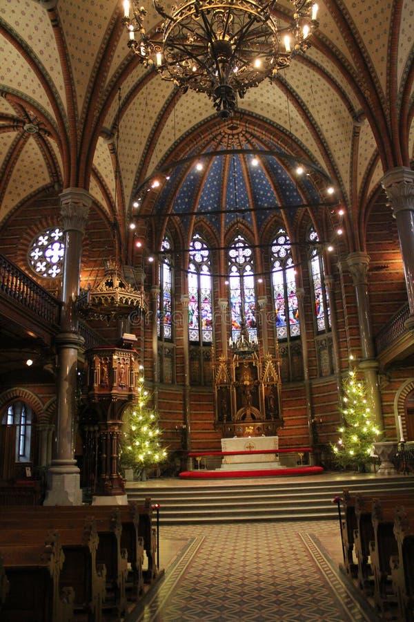 Церковь рождества в Лунде стоковая фотография rf