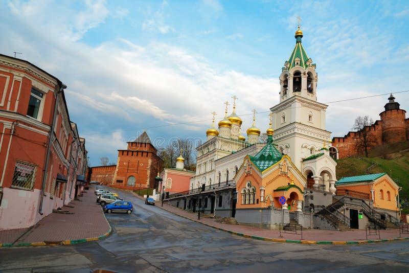 Церковь рождества Джона прекурсор в Nizhny Novgorod стоковые изображения rf
