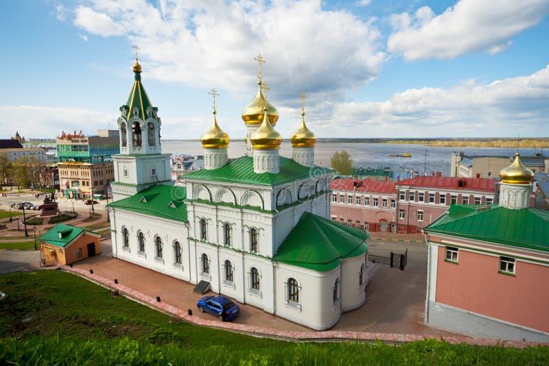 Церковь рождества Иоанна Крестителя России, Nizhny Novgorod стоковая фотография rf