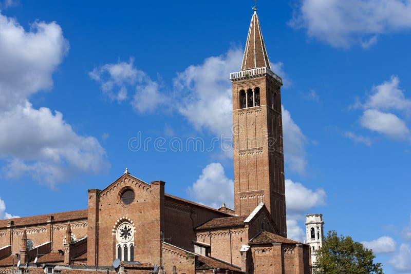 Церковь Санты Анастасии - Вероны Италии стоковые фото