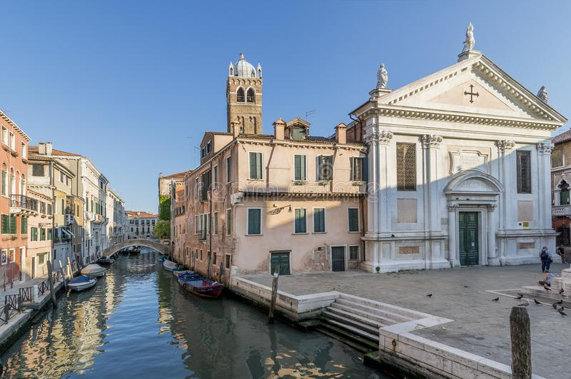 Церковь Санты Fosca, Cannaregio, Венеция, Италия стоковая фотография