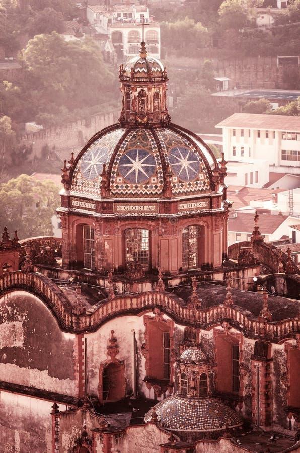 Церковь Санты Prisca в Taxco, Геррере, Мексике стоковые фотографии rf