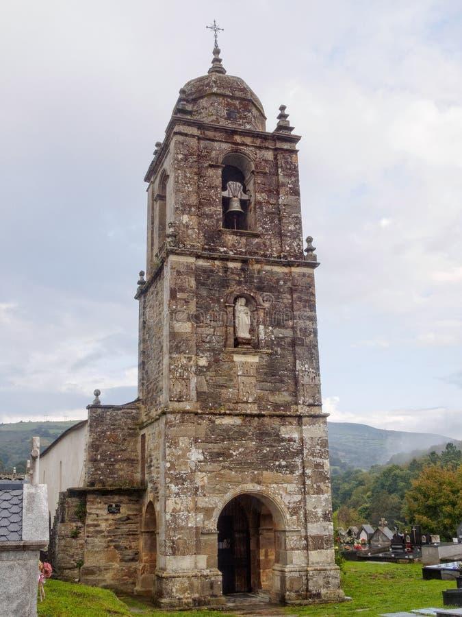 Церковь Сантьяго - Triacastela стоковое фото rf