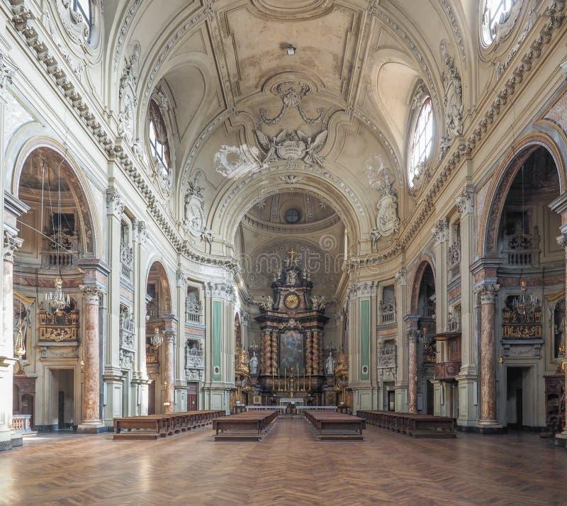 Церковь Сан Филиппо Neri в Турине стоковые фотографии rf