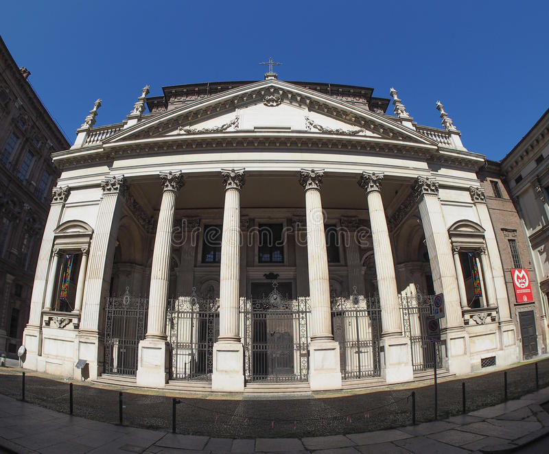 Церковь Сан Филиппо Neri в Турине стоковое изображение rf