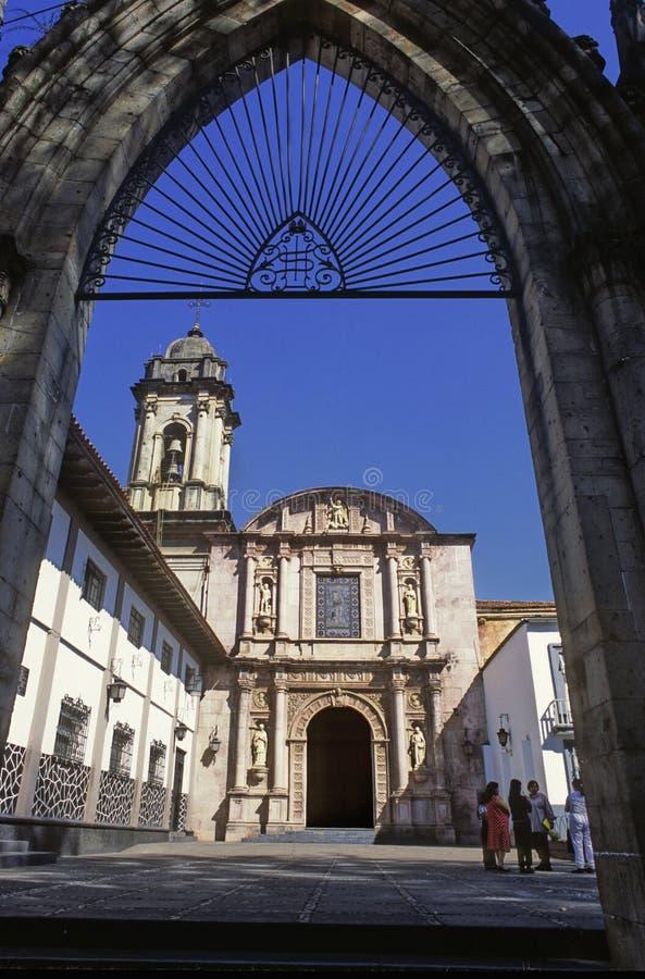 Церковь Сан-Франциско в Uruapan стоковое изображение rf