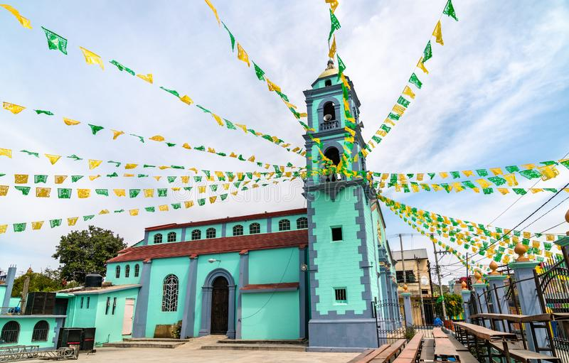 Церковь Сан-Хосе в Уахуапан-де-Леон, Мексика стоковые фотографии rf
