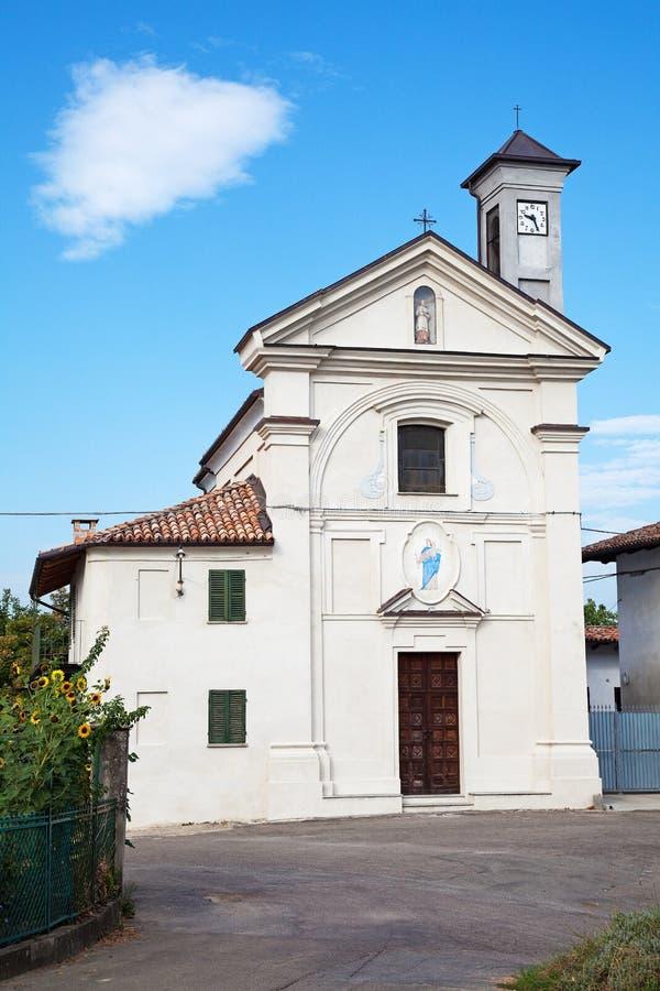 Церковь Сан Carlo в d'Asti Costigliole, Италии стоковые фото