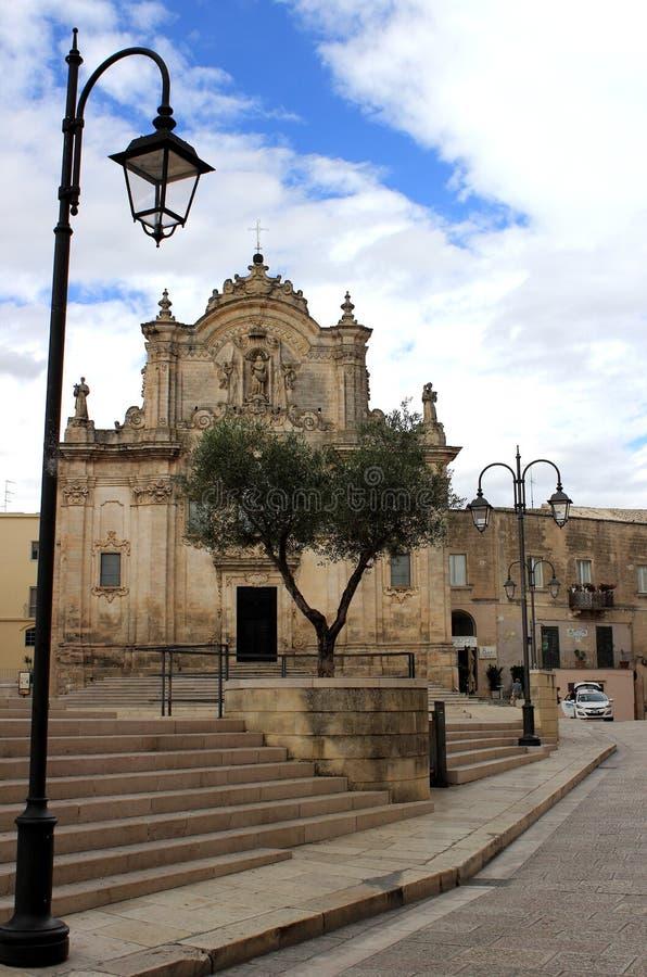 """Церковь Сан Francesco d """"Assisi, Matera, Базиликаты, Италии стоковая фотография"""