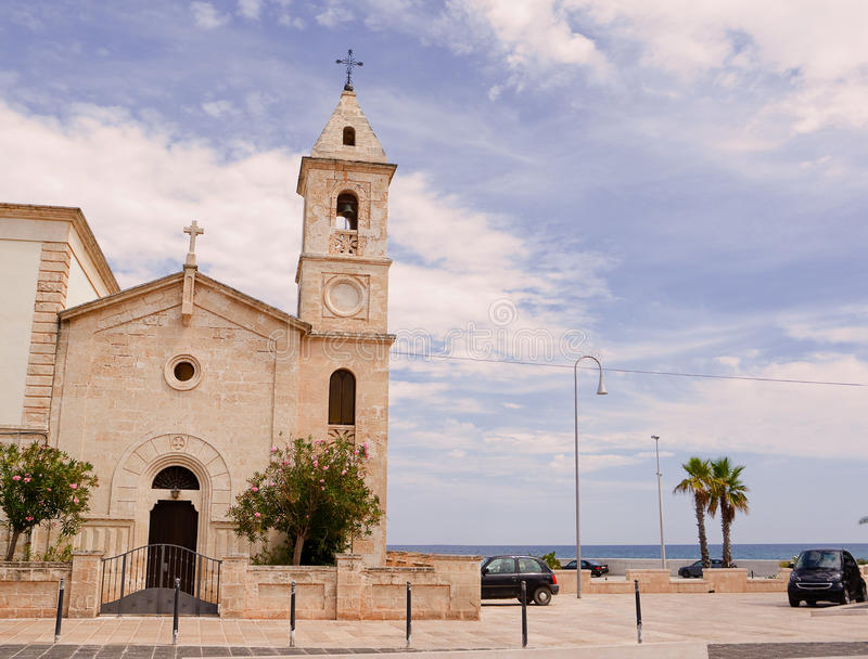Церковь Сан Francesco da Paola в Savelletri & x28; Бриндизи - Italy& x29; стоковое изображение