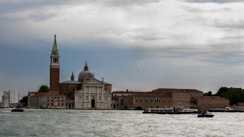 Церковь Сан Giorgio di Maggiore в Венеции, Италии стоковое изображение rf