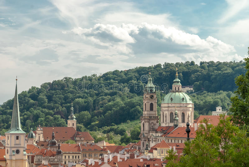 Церковь Сан Nicola, Malastrana, Прага, чехия стоковая фотография