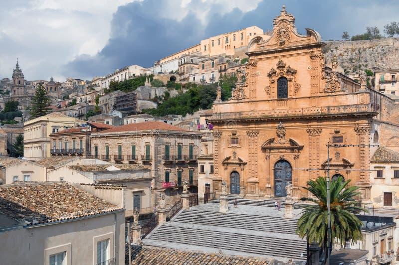 Церковь Сан Pietro, чуточки, Сицилия, Италия стоковое фото rf