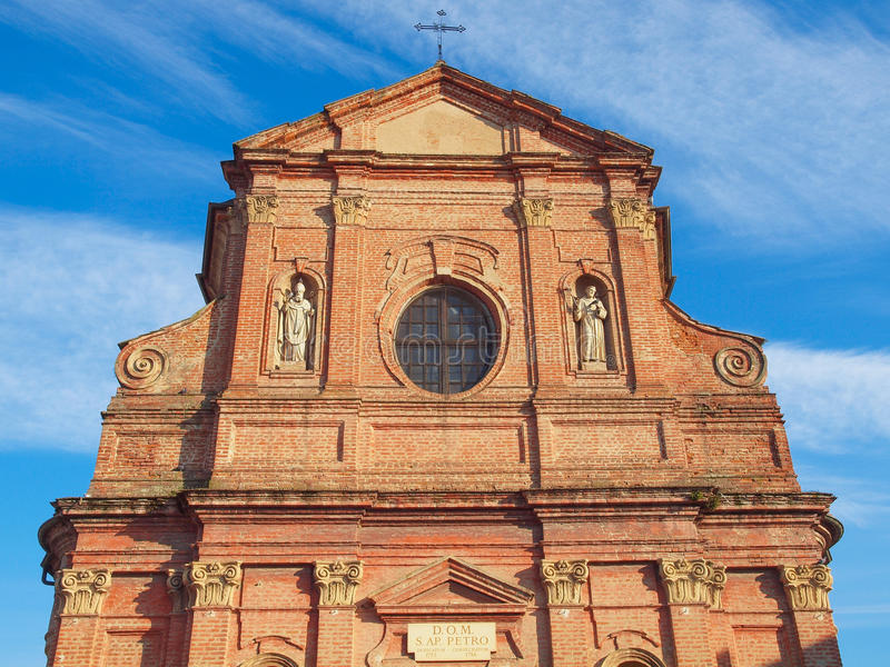 Церковь Сан Pietro Apostolo, Brusasco стоковое изображение