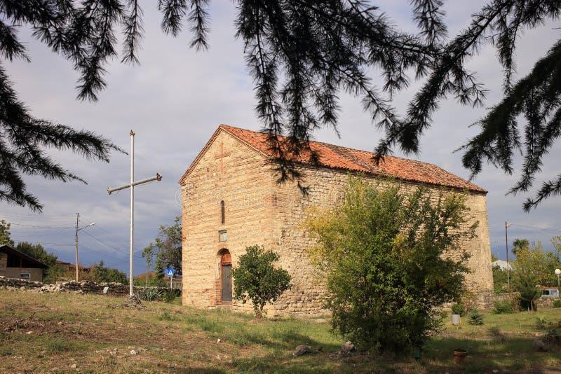 Церковь Светицховели в селе Мукузани, Грузия стоковая фотография rf