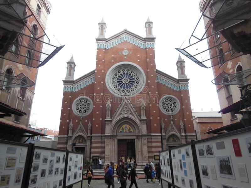 Церковь Святого Антония Падуи, Стамбула стоковые изображения