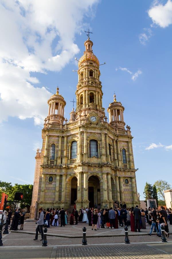 Церковь Святого Антония - Templo de Сан Антонио de Падуя, Aguascalie стоковое изображение rf