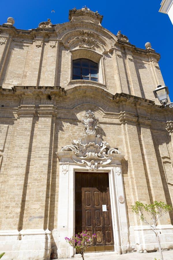 Церковь святого имени Иисуса от города Бари стоковая фотография