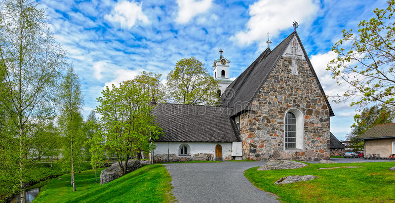 Церковь святого креста в Rauma, Финляндии стоковое фото