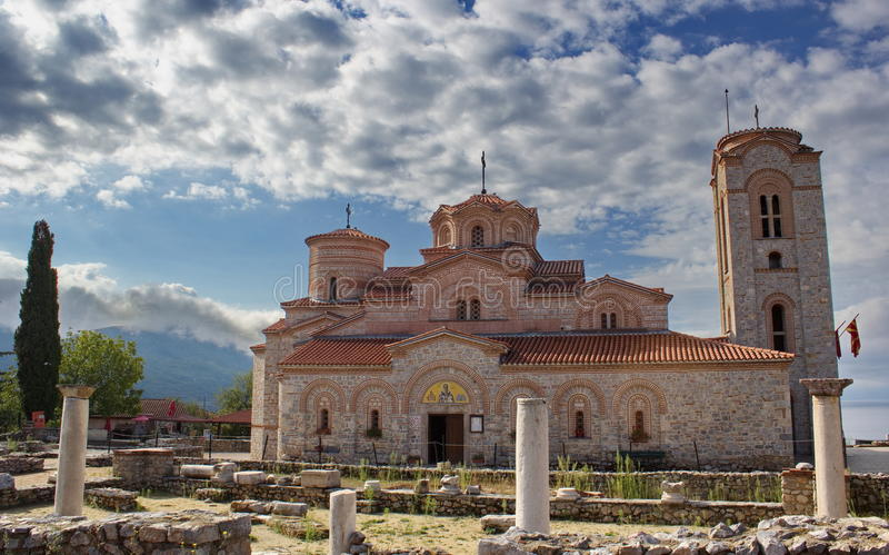 Церковь Святого Panteleimon, Ohrid, македонии стоковая фотография