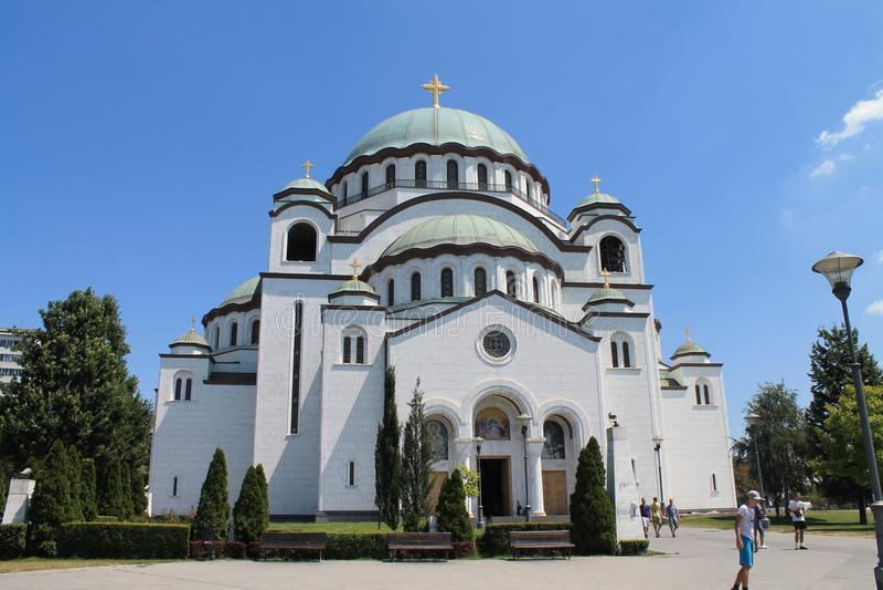 Церковь Святого Sava в Белграде Сербии стоковое изображение