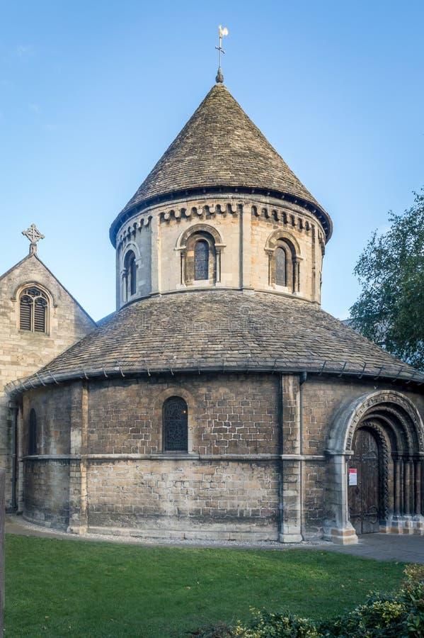 Церковь святого Sepulchre также известная как круглая церковь, Кембридж стоковое изображение rf