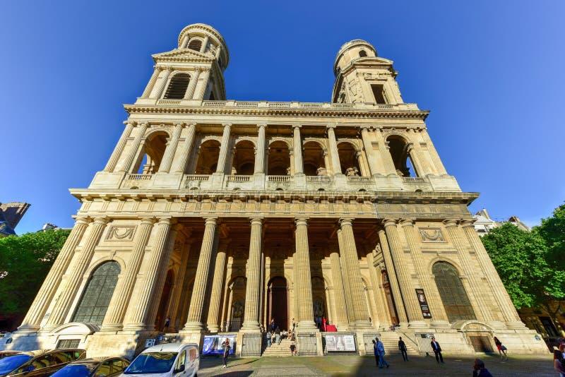 Церковь Святого-Sulpice стоковая фотография