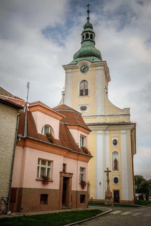 Церковь святого Vaclav в Tovacov стоковая фотография
