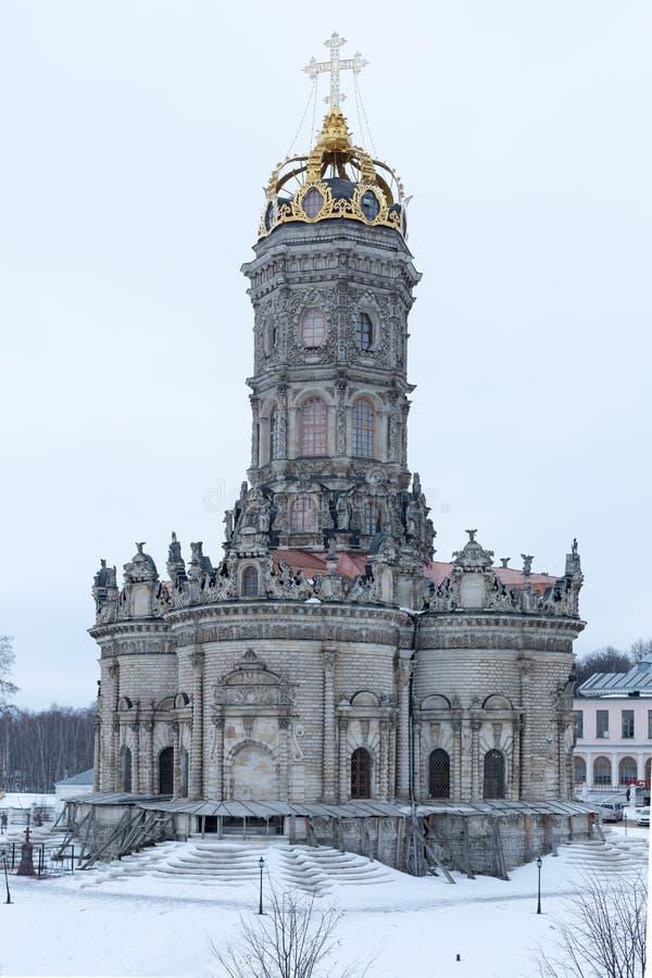 Церковь святой девственницы в Dubrovitsy, область Москвы, Podolsk, Россия стоковая фотография rf
