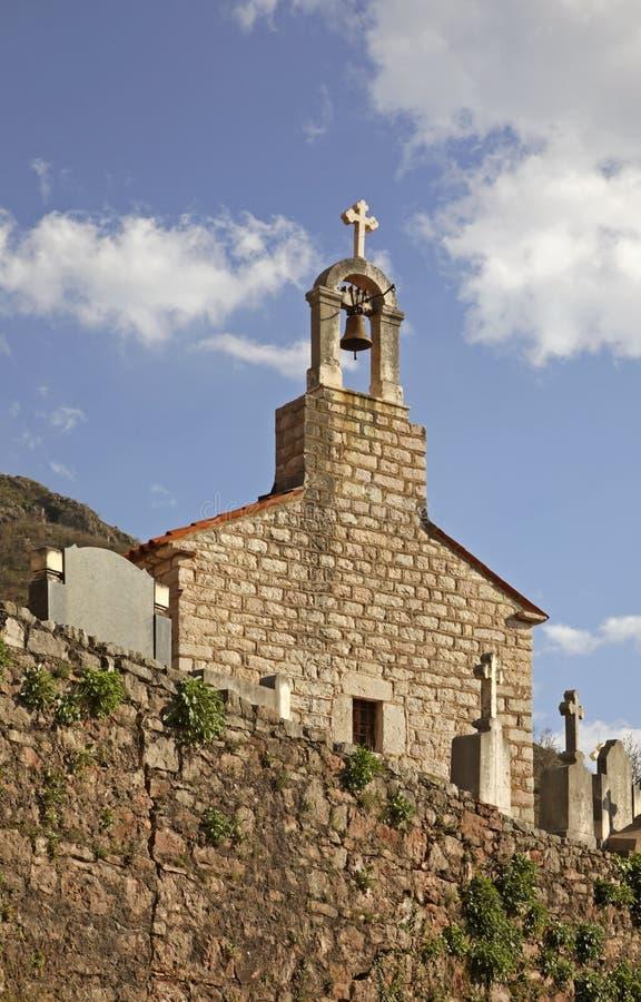 Церковь святой троицы в монастыре Praskvica Черногория стоковые фотографии rf