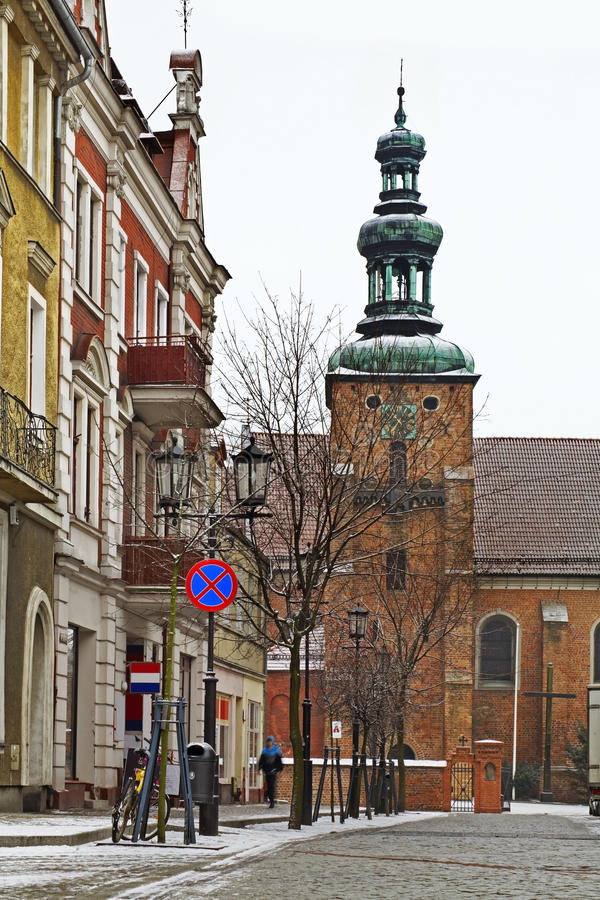 Церковь святой троицы в Gniezno Польша стоковое изображение rf