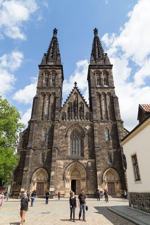 Церковь Святых Питера и Пола в Праге стоковое фото