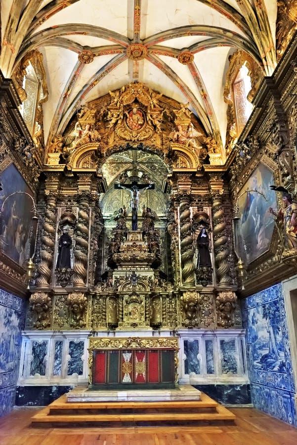 Церковь Св.а Франциск Св. Франциск в Evora, Португалии стоковое фото rf