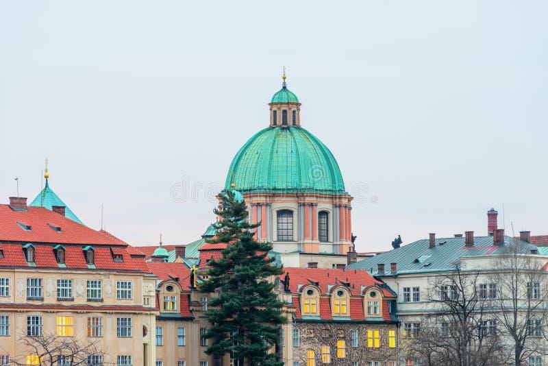 Церковь Св.а Франциск Св. Франциск Assisi в Праге стоковое изображение