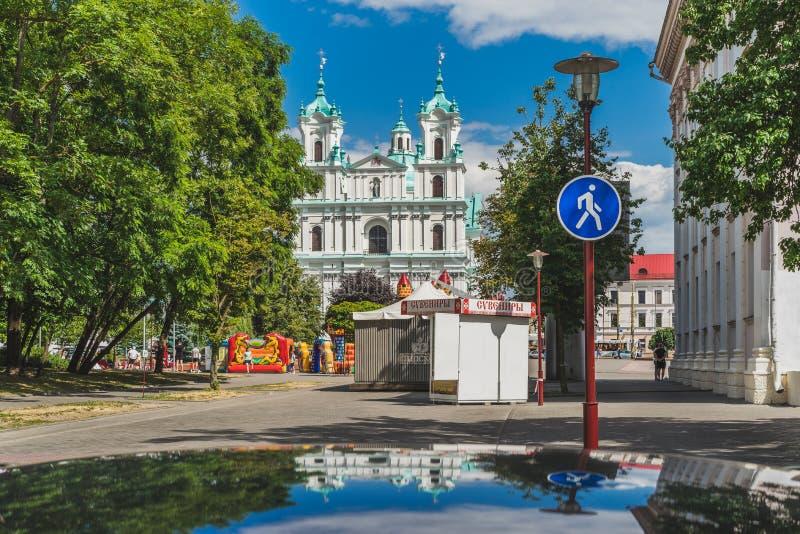 Церковь Св.а Франциск Св. Франциск Xavier в Grodno стоковое фото