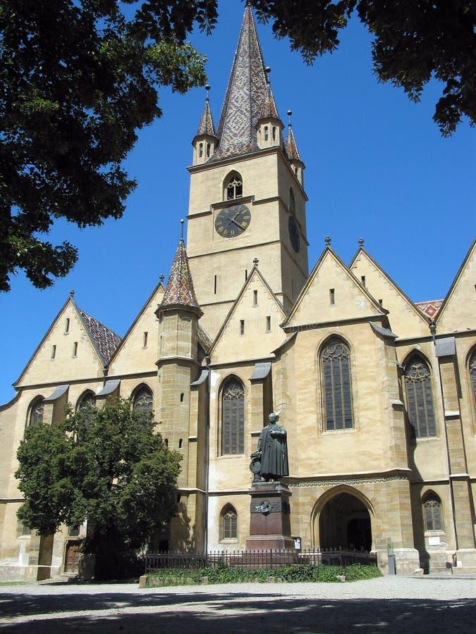 Церковь Сибиу Румыния Evanghelical стоковые изображения rf