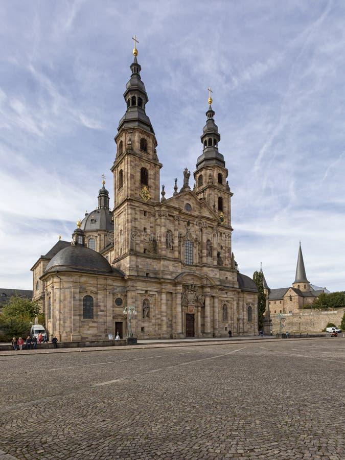 Церковь собора и St Michaels Фульды, Hesse, Германия стоковое фото rf