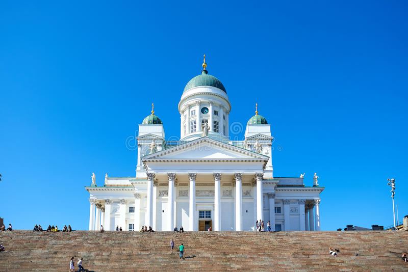 Церковь собора на Хельсинки, Финляндии стоковые фото