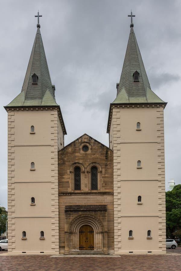 Церковь собора St. Johns английская, Parramatta Австралия стоковое изображение