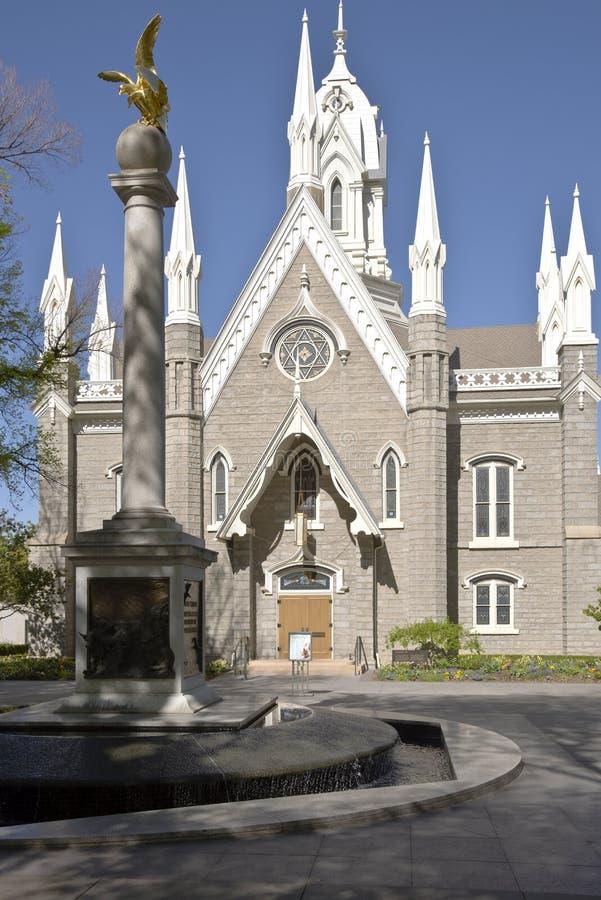 Церковь Солт-Лейк-Сити актового зала Мормона стоковая фотография rf