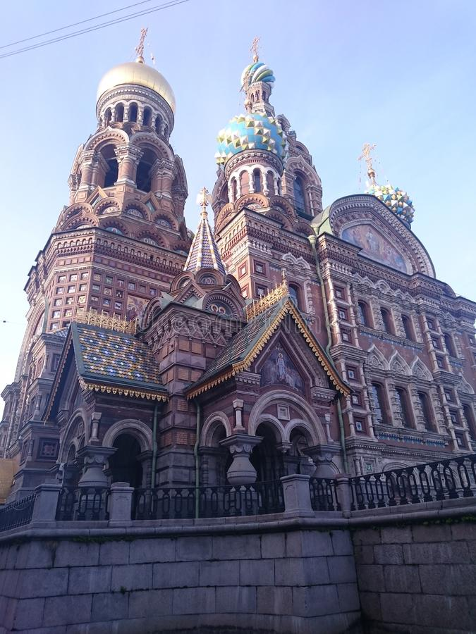 Церковь спасителя на крови - Санкт-Петербурга, России стоковые изображения rf