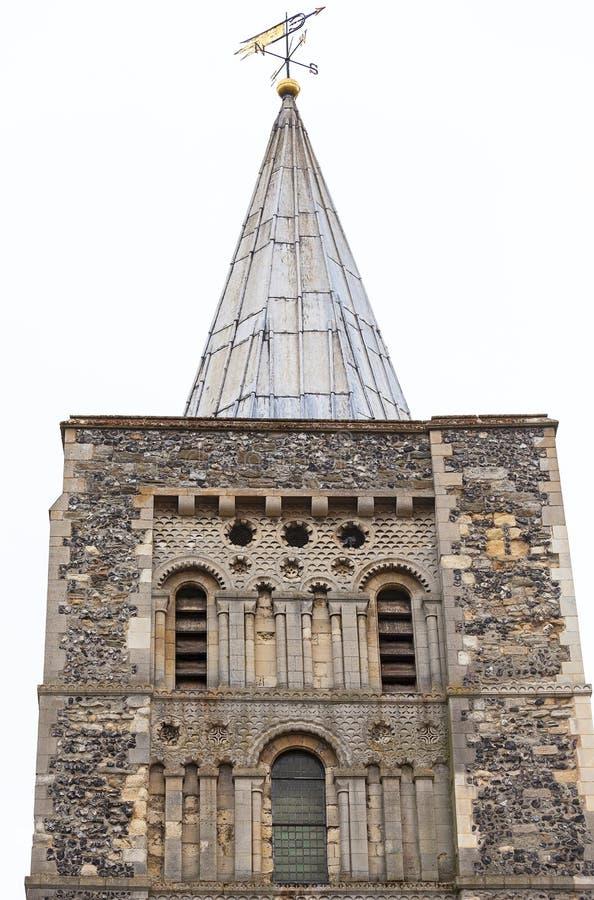 Церковь стиля двенадцатого века румынская St Mary девственница, башня, Дувр, Великобритания стоковая фотография