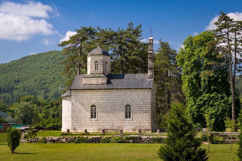 Церковь суда Vlaska в Cetinje, Черногории стоковое фото rf